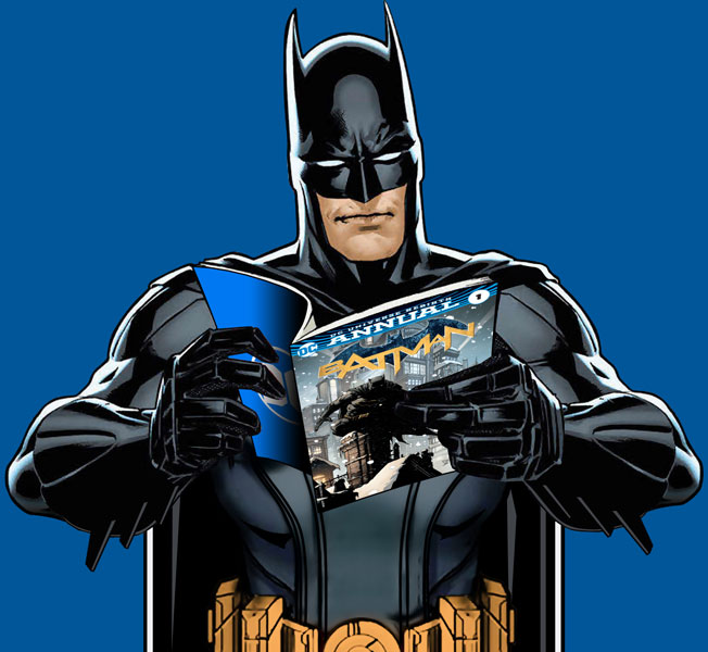 Batman reading Batman