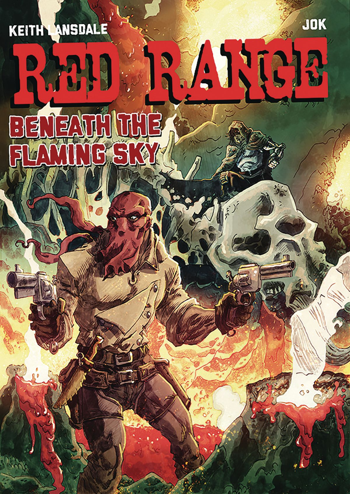 Red Range Beneath The Flaming Sky